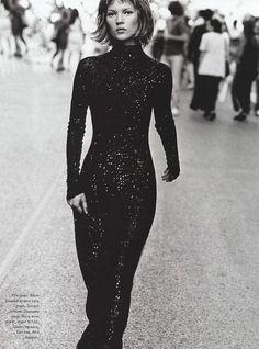 Who's That Girl: Kate Moss by Peter Lindbergh for Harper's Bazaar US September 1994