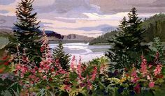 Fireweed by Ruth Basler Burr - gorgeous tapestry design for Mere Cie