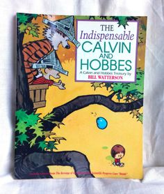 The-Indispensable-Calvin-and-Hobbes-Book-1992-Paperback-Cartoon-Comic-Tiger