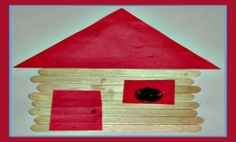 President's Day Abe Lincoln Log Cabin Craft For Kids! Here's