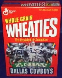 Wheaties Cereal Box Dallas Cowboys NFL Champions 1993