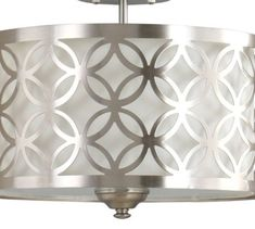 Allen-Roth-New-Brushed-Nickel-Fabric-Semi-Flush-Mount-Vintage-Light-Fixture