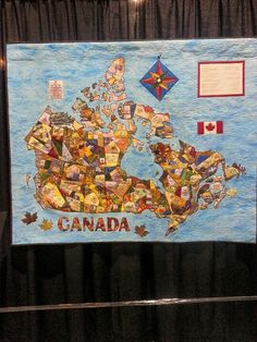 Map quilt of Canada