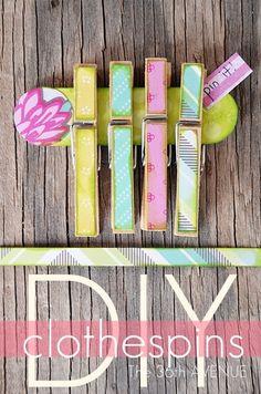 DIY Clothespins TUTORIAL. #crafts