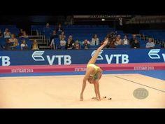 Yana KUDRYAVTSEVA (RUS) 2015 Rhythmic Worlds Stuttgart - Qualifications Clubs - YouTube