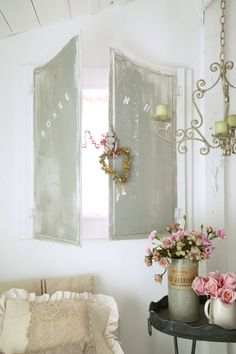 HOMEMADE SHUTTERS FROM ARMOIRE PANELS