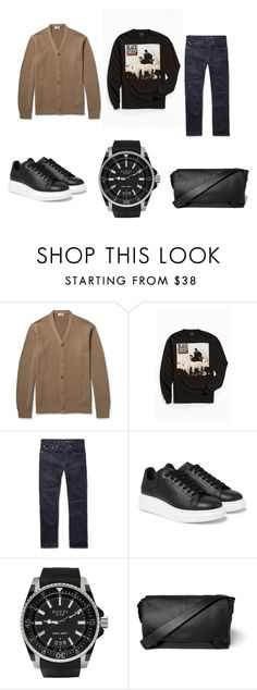"""""""Men's Winter"""" by allpeoplewilltravel on Polyvore featuring Camoshita, Urban Outfitters, Craftsman, Alexander McQueen, Gucci, Lanvin, men's fashion and menswear"""