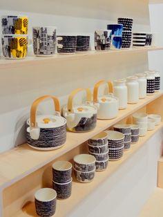 #marimekko #astiat #vaneri #habitare2014 #finnishdesign Marimekko, Kitchen Inspiration, Mugs, Tableware, Home, Dinnerware, Tumblers, Tablewares, Ad Home