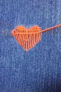 Love embroidery hacks for more me for more pins trulynyafashions Hand Embroidery Videos, Embroidery Stitches Tutorial, Embroidery On Clothes, Hand Work Embroidery, Creative Embroidery, Sewing Stitches, Learn Embroidery, Hand Embroidery Designs, Embroidery Techniques