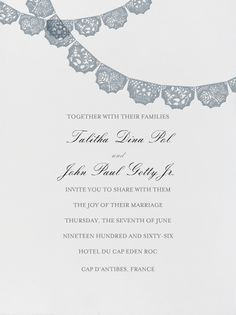 """Tulum - Ivory with Pacific (Tall Primary)"" Invitation, Paperless Post"