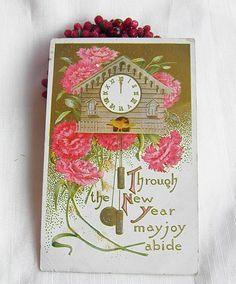 CooCoo Clock Vintage Postcard by GreenGablesLane on Etsy, $3.69