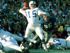 76. Earl Morrall (Michigan State) Earl was drafted 2nd overall in 1956. He played for the San Francisco 49ers, Pittsburgh Steelers, Detroit Lions, New York Giants, Baltimore Colts and Miami Dolphins. He won Super Bowl V with the Colts, and he started 11 of 17 games for the perfect 1972 Dolphins. He was the NFL MVP in 1968, a two-time Pro Bowler in 1957 and 1968 for the Steelers and Colts. He was a two-time All-Pro for the Colts and Dolphins. He was an All-American in 1955.