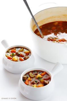 Vegetable Beef Soup   gimmesomeoven.com