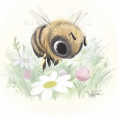 Illustrations by Sydney Hanson ( Bee Drawing, Painting & Drawing, Sister Tatto, Bumble Bee Tattoo, Skull Tatto, Bee Pictures, Bee Creative, Bee Art, Bee Design