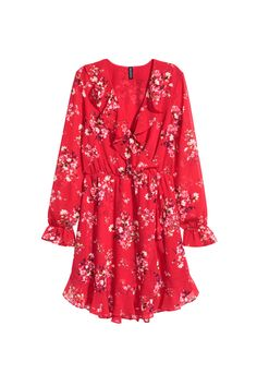 This H&M red floral printed dress has just the right amount of ruffles.