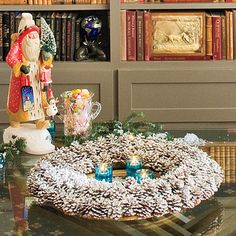 Flocked Pinecones - Festive Christmas Wreaths - Southern Living