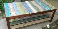 Update A Glass Top Coffee Table With A Pallet