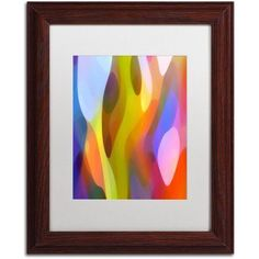 Trademark Fine Art Dappled Light 3 inch Canvas Art by Amy Vangsgard White Matte, Wood Frame, Size: 11 x 14, Brown