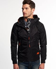 Superdry Black Flite Lite Jacket - Men's Jackets Street Fashion Tumblr, Trendy Outfits, Fashion Outfits, Superdry Mens, Mens Clothing Styles, Trendy Clothing, Black Edition, Hooded Jacket, Men Street