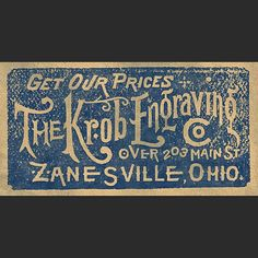 Custom ephemera piece hand lettered and modeled after a print advertisement from the 1880s.