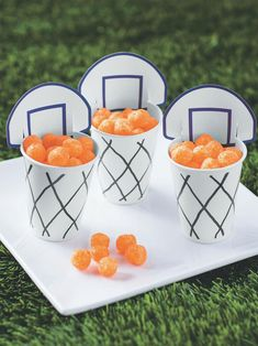 sports spring winter basketball march madness themed party snack