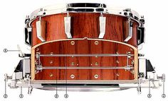 1987 Sonor Signature Heavy 14 x 8 Bubinga Snare Drum. Now that's how you build a snare drum! Sounds great but it's getting a bit too valuable to take to a gig these days!