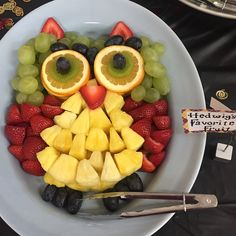 Owl Fruit Tray I made for a Harry Potter Party #ItsAllAboutAmy