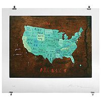 Or for myself as well // PLACES IN AMERICA WALL ART - interactive artwork. // Can we get one of the world too?
