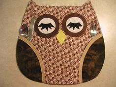 6 Owl Placemats  by LindasHandmadeDreams on Etsy