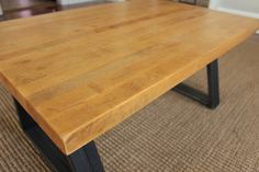 Reclaimed Butcher Block Countertop turned Coffee Table