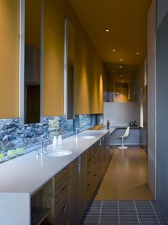 Will Bruder - Jarsen Residence. Love the low windows in the master bathroom
