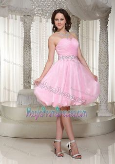 Pretty Pink Dresses | Strapless Pink Morden Pretty Quinceanera ...