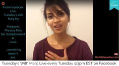 """Tuesday's With Manj Marijuana, Physical Pain, """"The Establishment,"""" & Love -something doesn't quite jive. If it is a powerful source of healing, why is . Cookie Videos, Spiritual Wellness, Physical Pain, Self Love, Physics, Tuesday, Self Esteem, Physics Humor, Physique"""