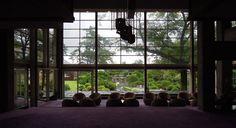 Japanese lounge area + garden.
