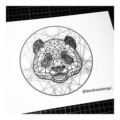Geometric panda by @davidreesdesign . Want a feature? Use #iblackwork for a chance to get featured . ▶@davidreesdesign . Tag blackwork fans below and dont forget to double-tap ✔ . ▶@davidreesdesign . Feel free to visit my art page @renessancedesign and personal page @rene_ssaince ✌✔ ______________________________ renessancedesign.bigcartel.com .