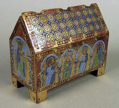 Enamelled chasse (casket reliquary) by Anonymous from Limoges, 1185-1195, Muzeum Czartoryskich