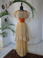 antique dress, antique gown, gown 1912, gown 1910, antique evening dress, robe ancien, Titanic era Dress, antieke jurk, antique dress for sale
