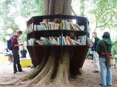 Interesting outdoor library