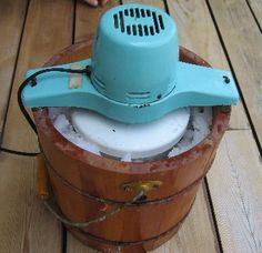 How to use an ice-cream maker as a rock tumbler.