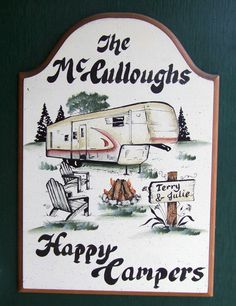 5th Wheel Camping/Welcome SIGN  Personalized  by WhisperwoodStudio, $32.00