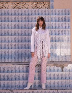 Step Into Spring Anna Mason, Spring Photography, Gowns With Sleeves, Long Sleeve Mini Dress, Pearl Color, Trending Now, Wide Leg Trousers, Keep Your Cool, Modest Fashion