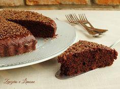 torta al cioccolato senza uova - fetta