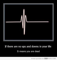 Usually you have a choice to create more ups than downs. enjoy your family, friends & work. use your time wisely.