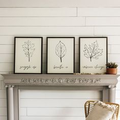 Set of leaf signs for fall. Snuggle Up, Breathe In, Embrace Change. Farmhouse wall decor