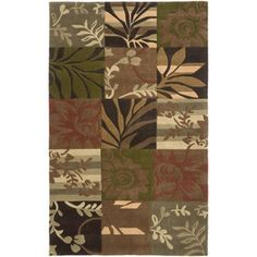 Artistic Weavers�Dundee Rectangular Green Floral Tufted Area Rug (Common: 5-ft x 8-ft; Actual: 5-ft x 8-ft)