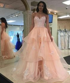 Applique prom dresses, pink a-line/princess prom dresses, long pink prom dresses, pink strapless backless lace organza long qunceanera dresses prom dresses Princess Prom Dresses, Pink Prom Dresses, Backless Prom Dresses, A Line Prom Dresses, Tulle Prom Dress, Cheap Prom Dresses, Party Dresses, Evening Dresses, Lace Dresses