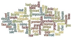 les adjectifs les plus courants et les plus utilisés de la langue française ?