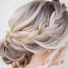 Frisur Trauzeugin Hairstyle maid of honor # Hairstyle maid of honor Thin White Blonde Hair, Brown Hair With Blonde Highlights, Platinum Blonde Hair, Ash Blonde, Grey Hair, Hairstyles Haircuts, Pretty Hairstyles, Braided Hairstyles, Blonde Hairstyles