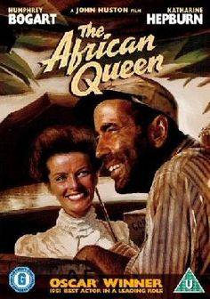 The African Queen is one of my favorite classic romantic movies, it's about a middle-aged spinster and an rough guy who tips the bottle more than a bit. They fall in love despite or maybe because of being total opposites.