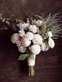 white and green bouquet.
